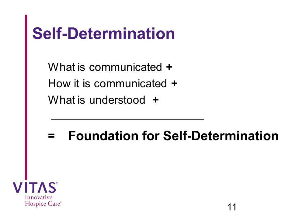 = Foundation for Self-Determination
