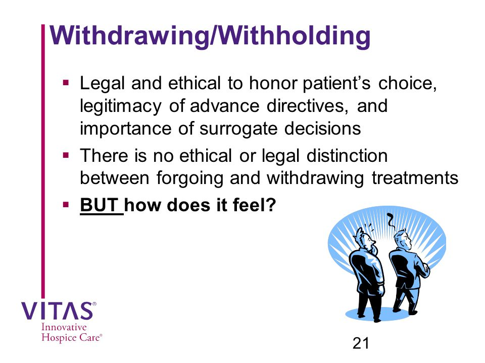 Withdrawing/Withholding