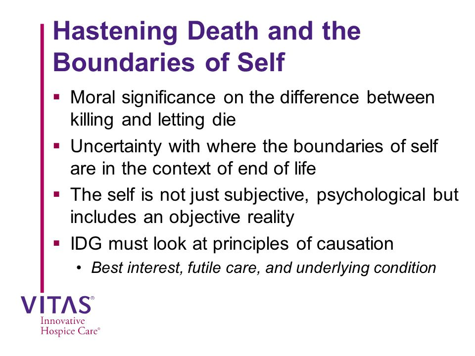 Hastening Death and the Boundaries of Self