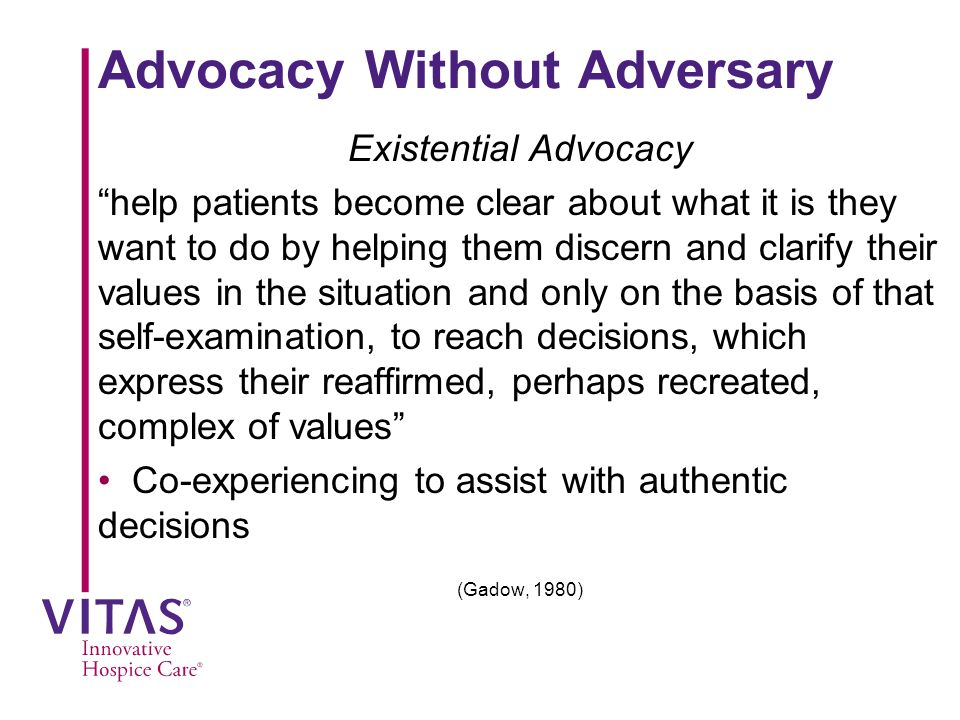 Advocacy Without Adversary