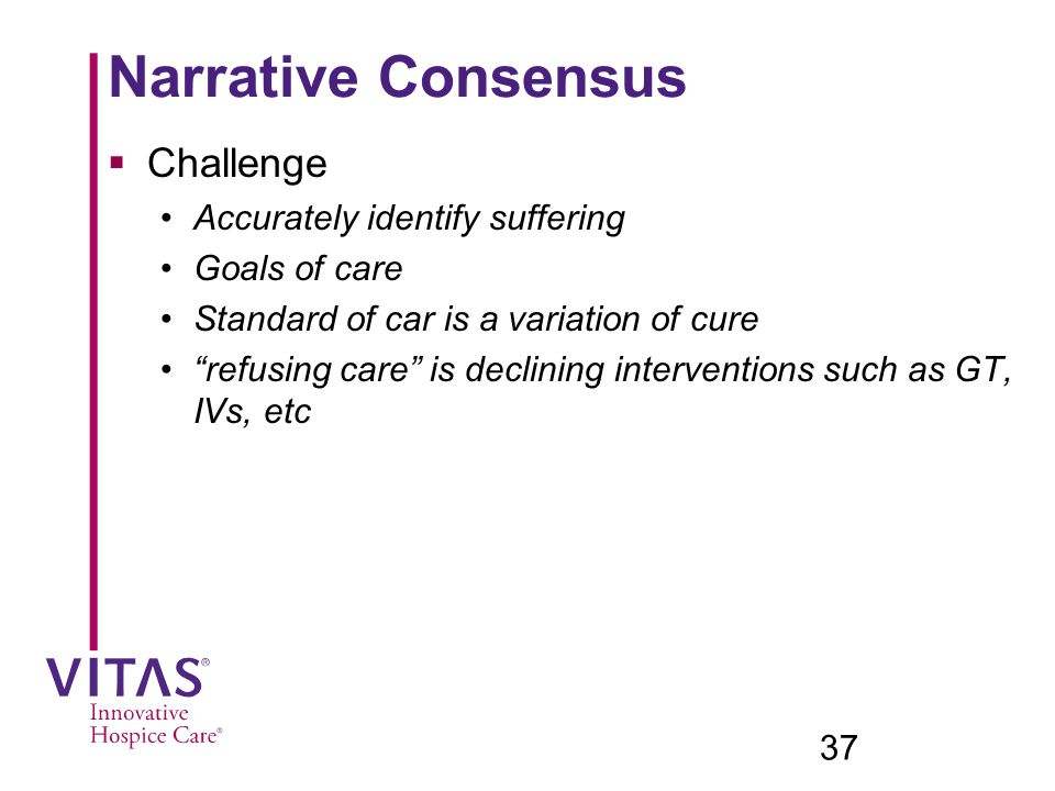 Narrative Consensus Challenge Accurately identify suffering