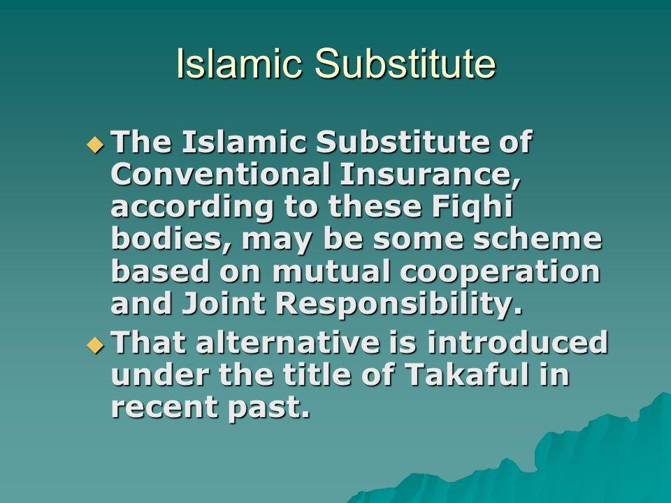 Islamic Substitute