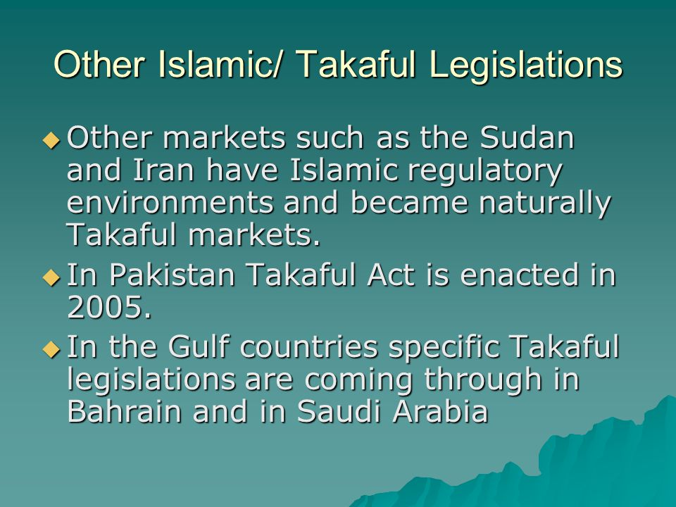 Other Islamic/ Takaful Legislations