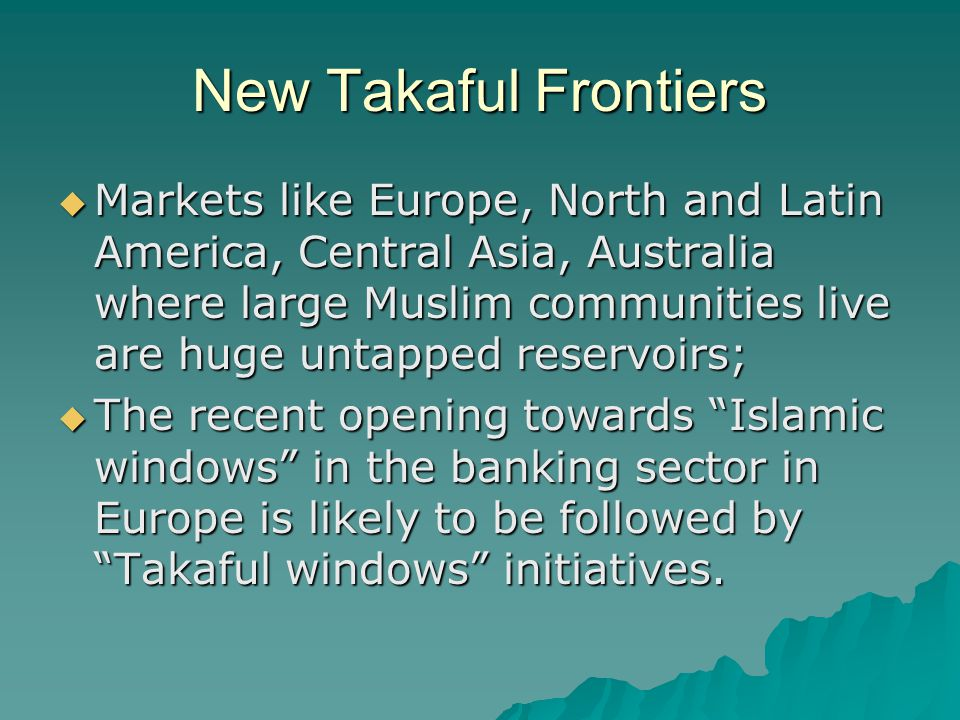 New Takaful Frontiers