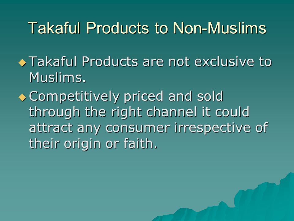 Takaful Products to Non-Muslims