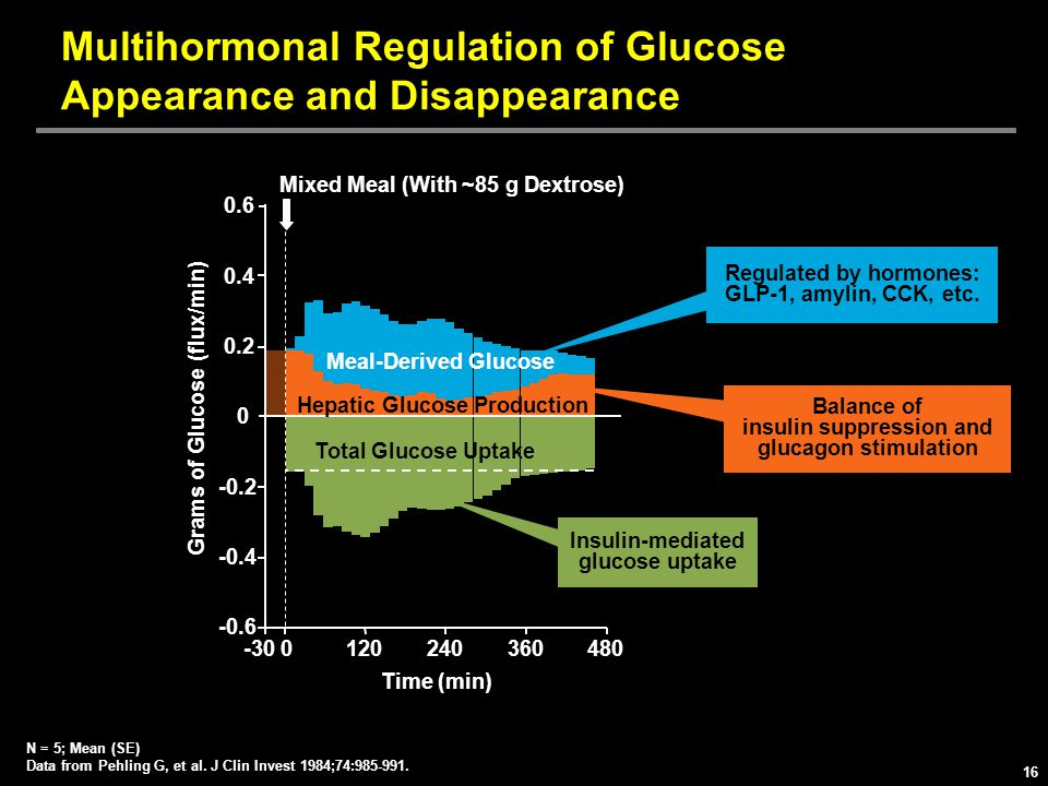 Multihormonal Regulation of Glucose Appearance and Disappearance