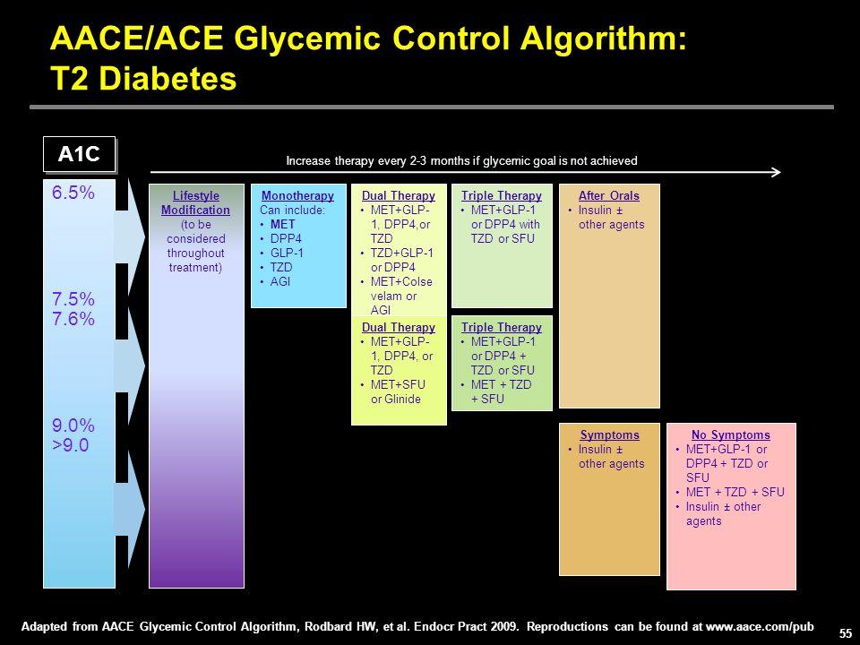 AACE/ACE Glycemic Control Algorithm: T2 Diabetes