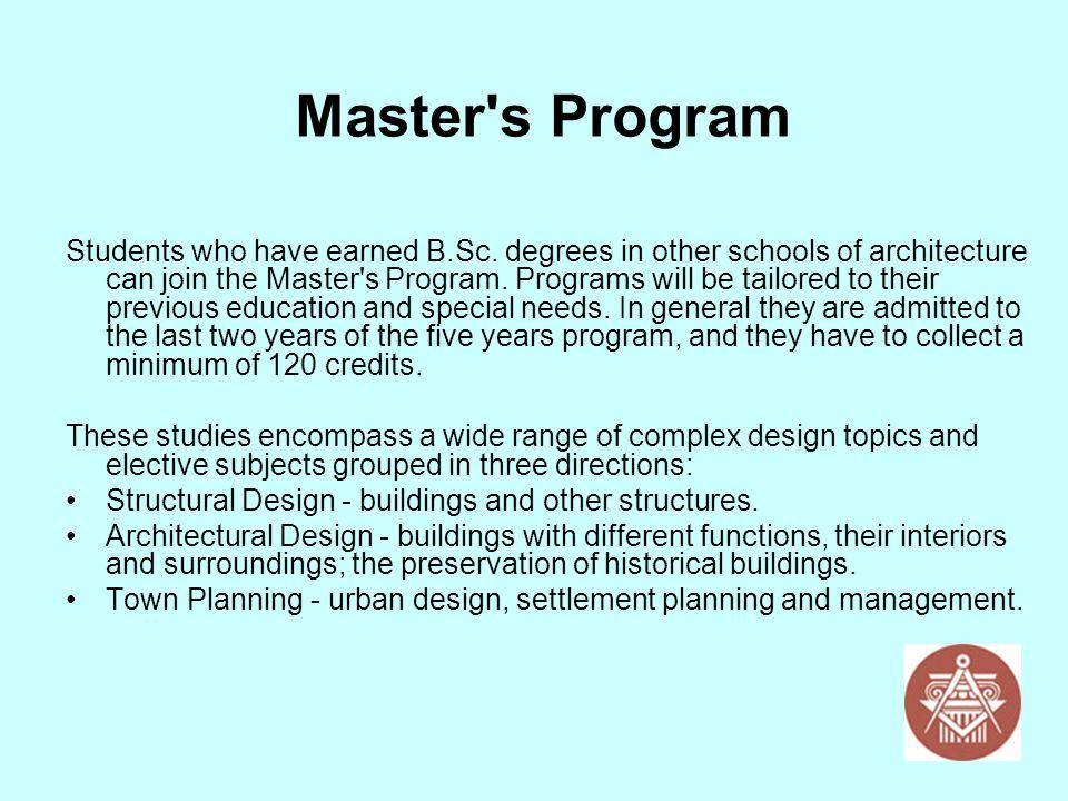 Master s Program