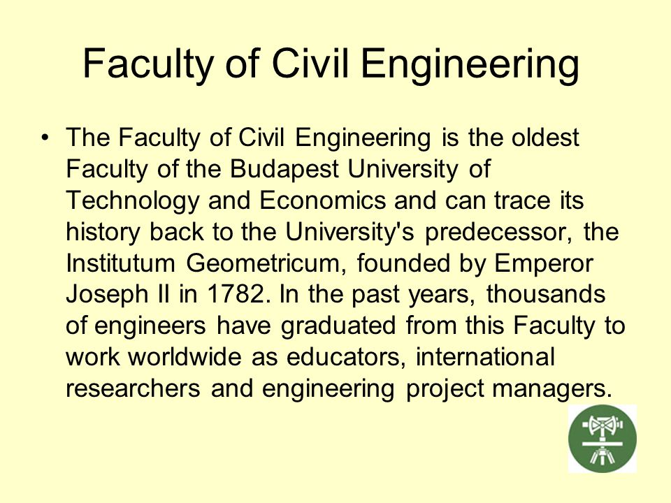 Faculty of Civil Engineering