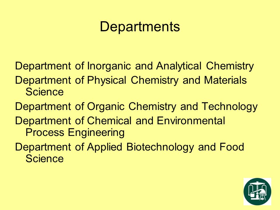 Departments Department of Inorganic and Analytical Chemistry