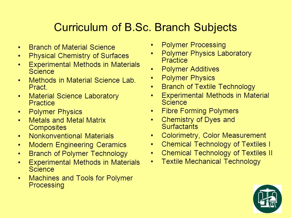 Curriculum of B.Sc. Branch Subjects