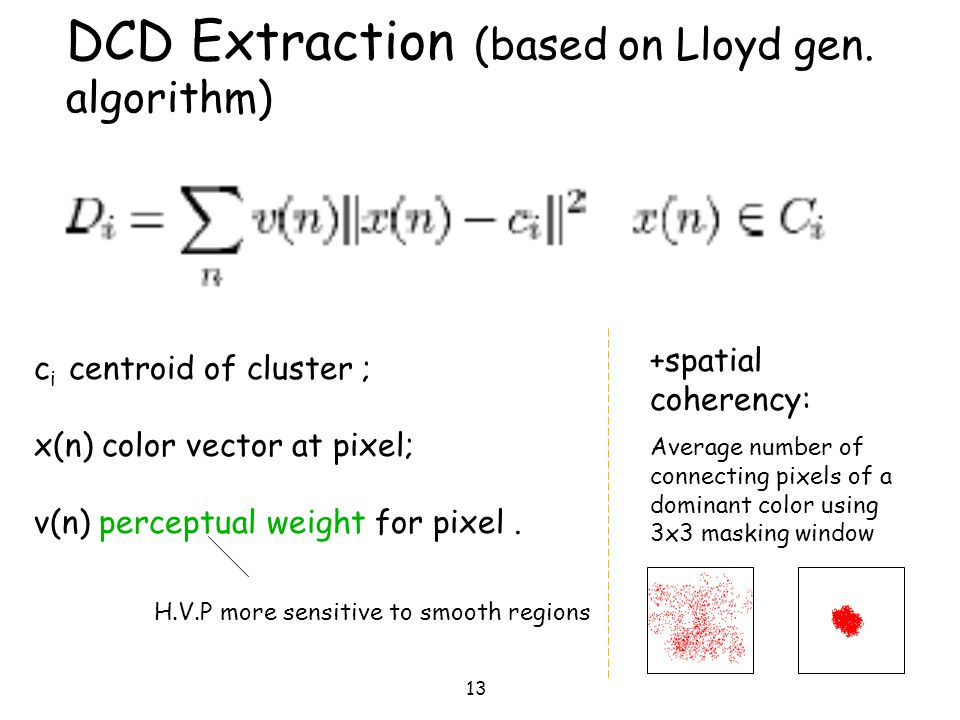 DCD Extraction (based on Lloyd gen. algorithm)