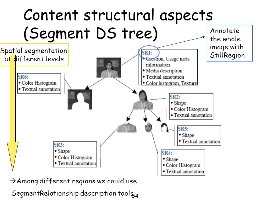 Content structural aspects (Segment DS tree)