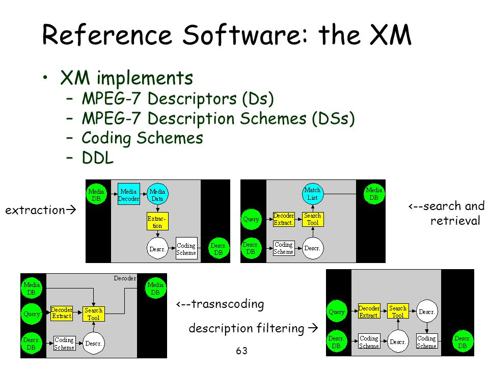 Reference Software: the XM