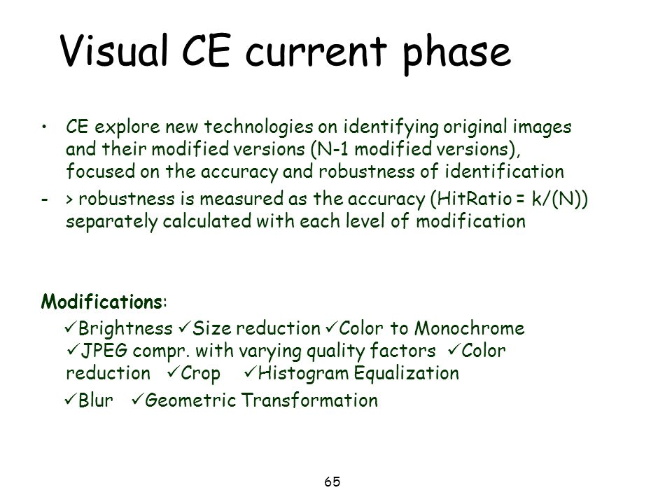 Visual CE current phase