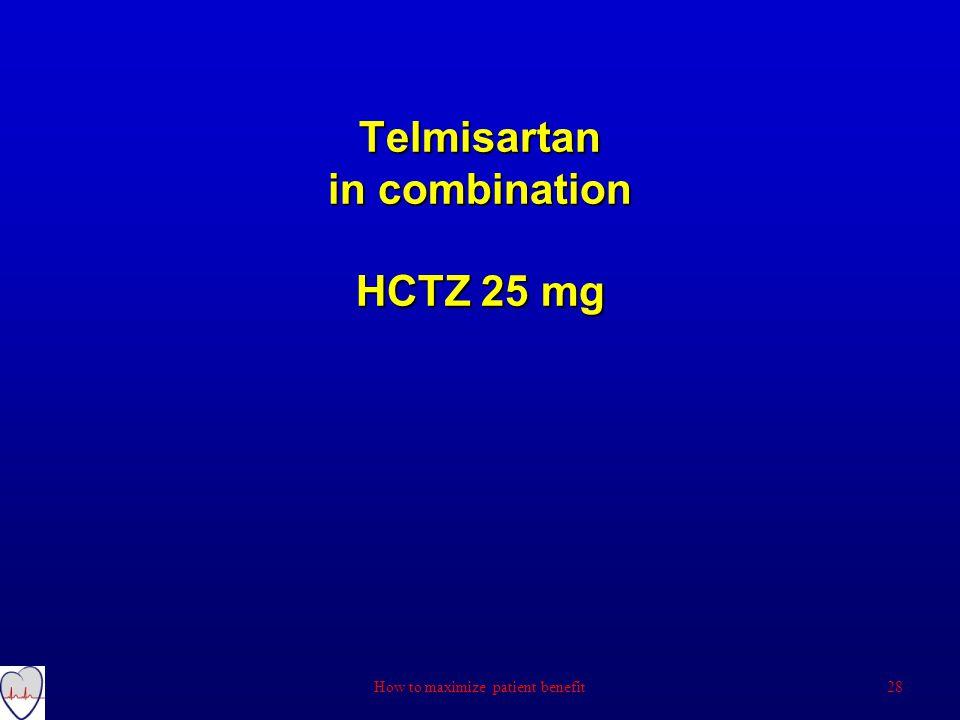 Telmisartan in combination HCTZ 25 mg