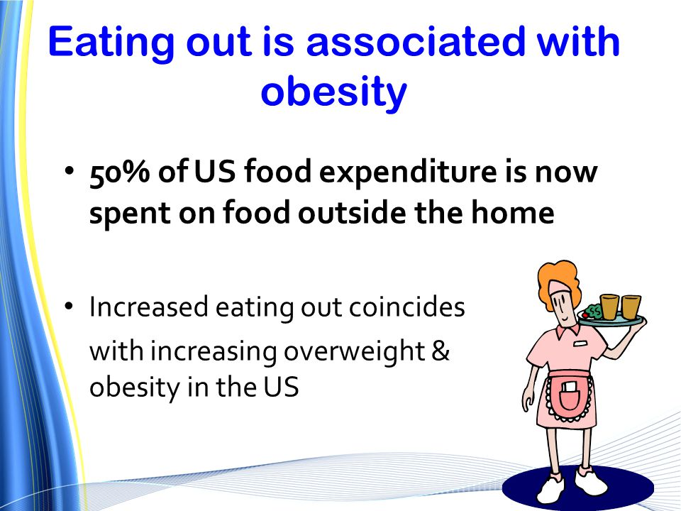 Eating out is associated with obesity