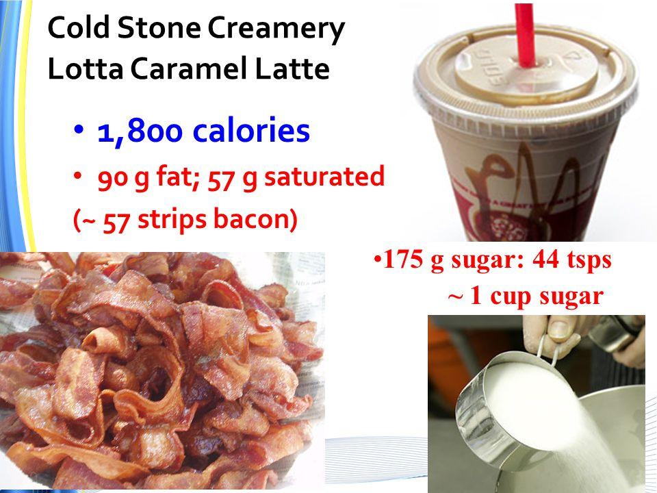 Cold Stone Creamery Lotta Caramel Latte