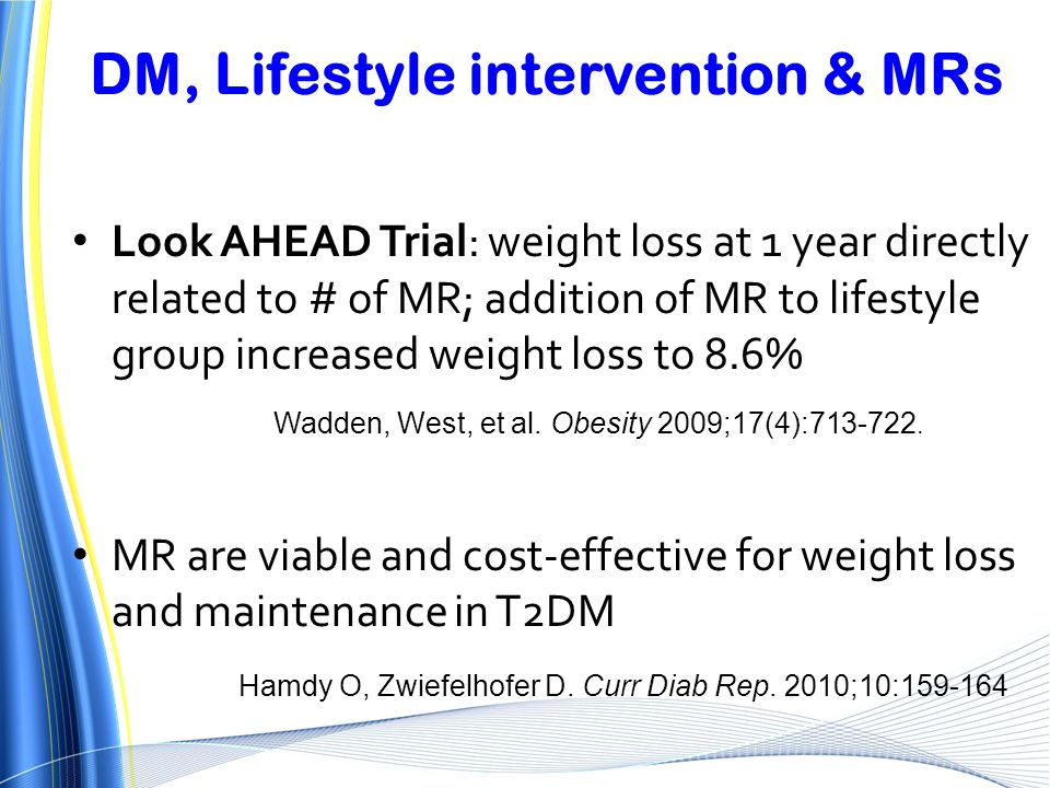 DM, Lifestyle intervention & MRs