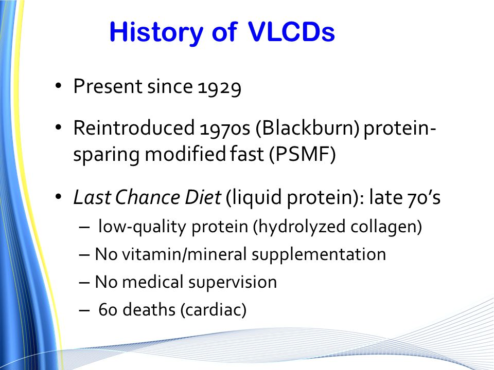 History of VLCDs Present since 1929
