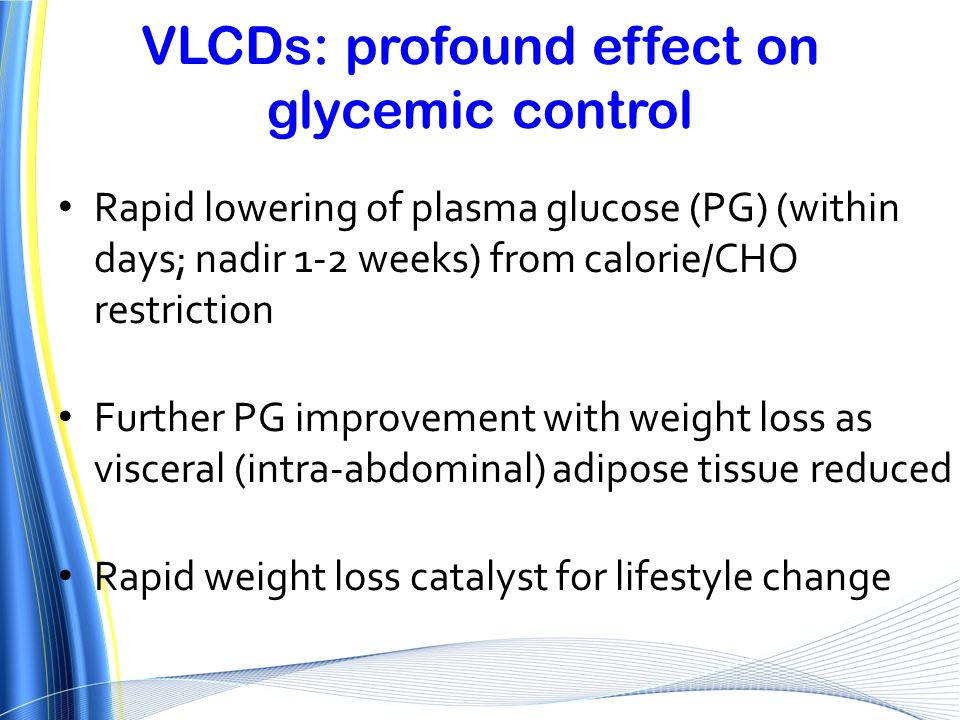 VLCDs: profound effect on glycemic control