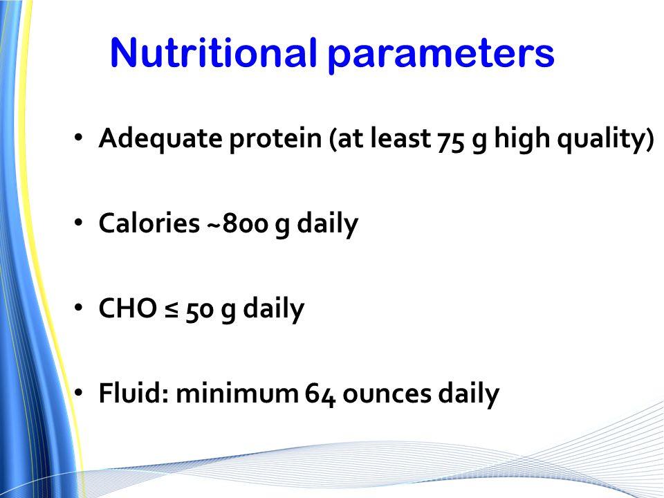 Nutritional parameters