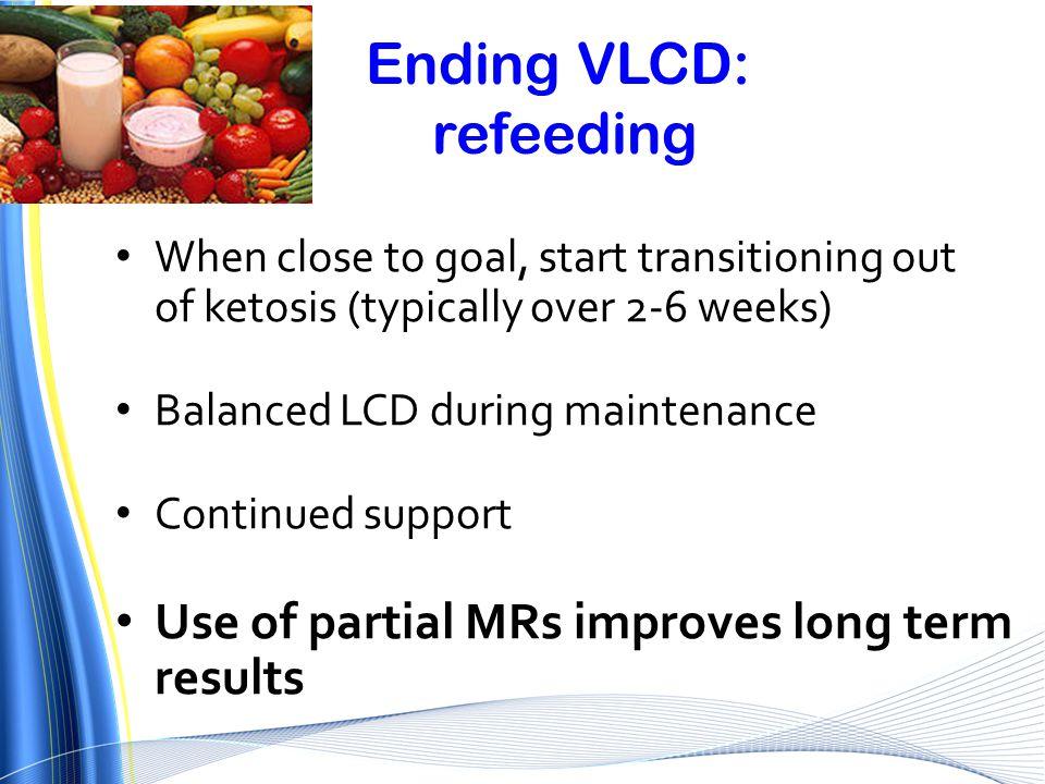 Ending VLCD: refeeding