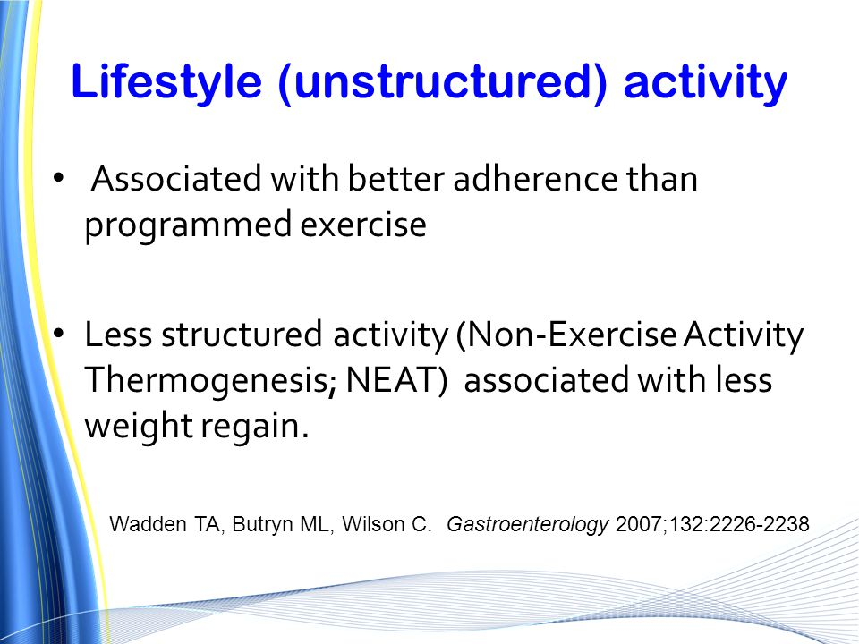 Lifestyle (unstructured) activity