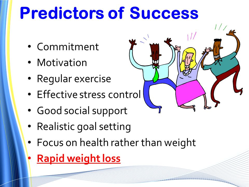 Predictors of Success Commitment Motivation Regular exercise