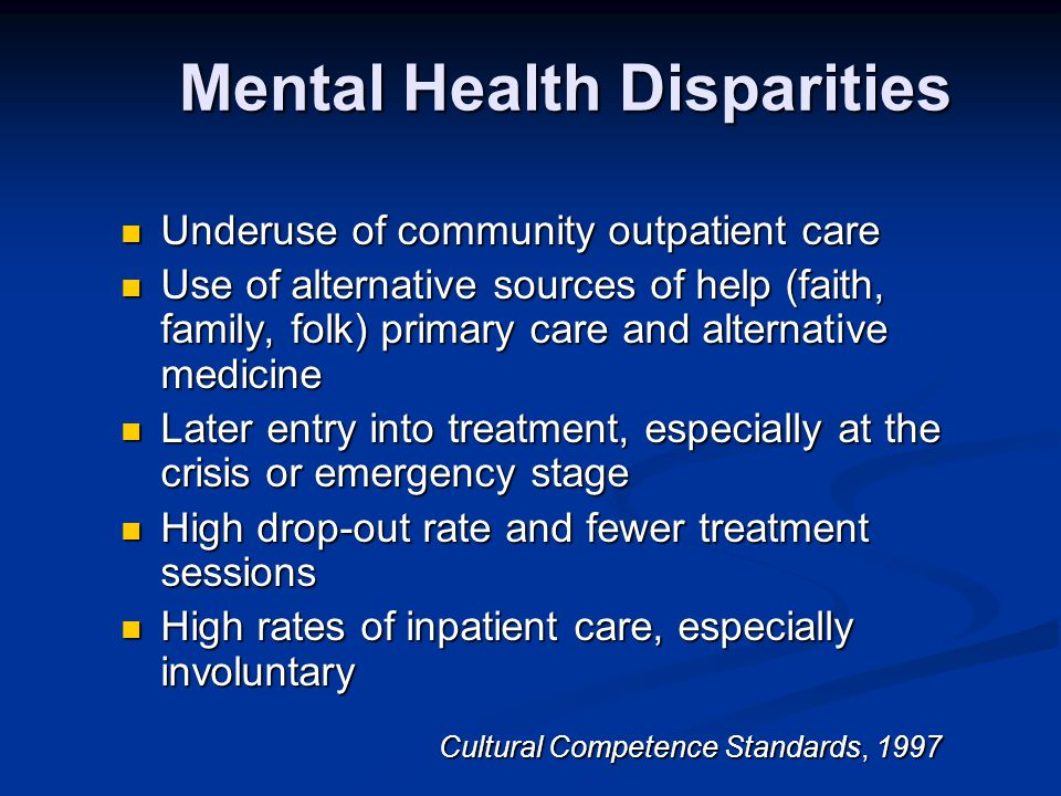 Mental Health Disparities
