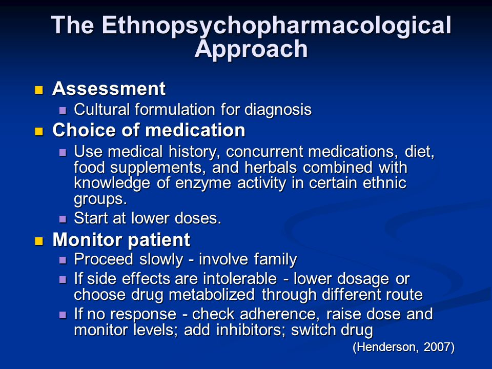 The Ethnopsychopharmacological Approach