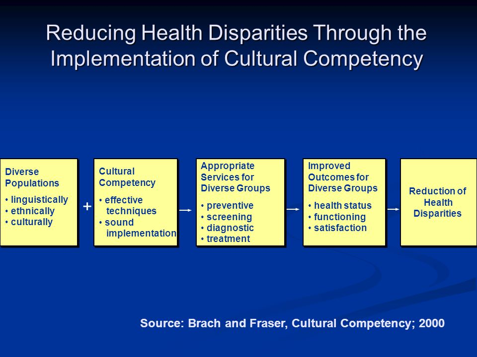Reducing Health Disparities Through the Implementation of Cultural Competency