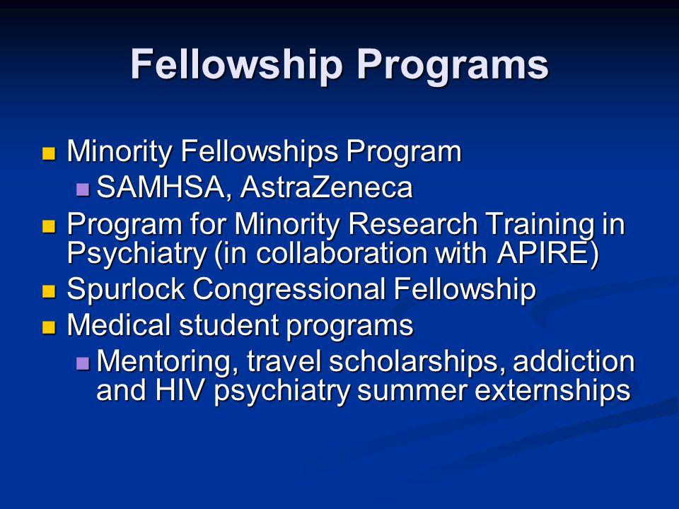 Fellowship Programs Minority Fellowships Program SAMHSA, AstraZeneca
