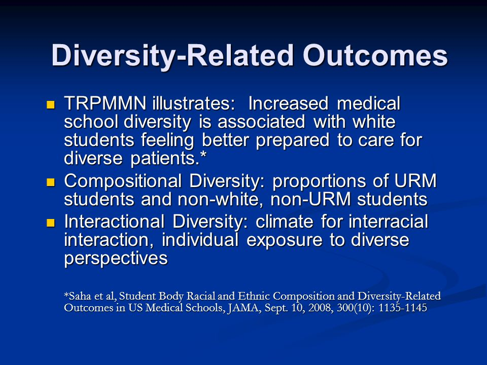 Diversity-Related Outcomes
