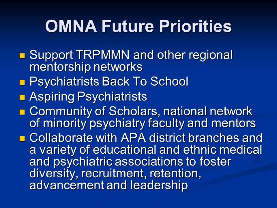 OMNA Future Priorities