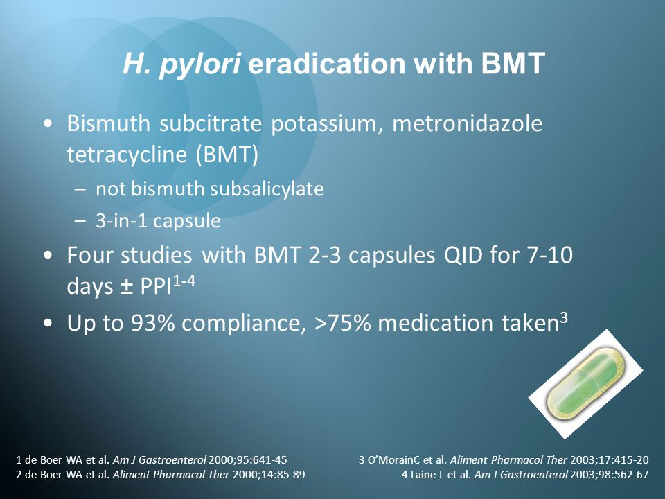 H. pylori eradication with BMT