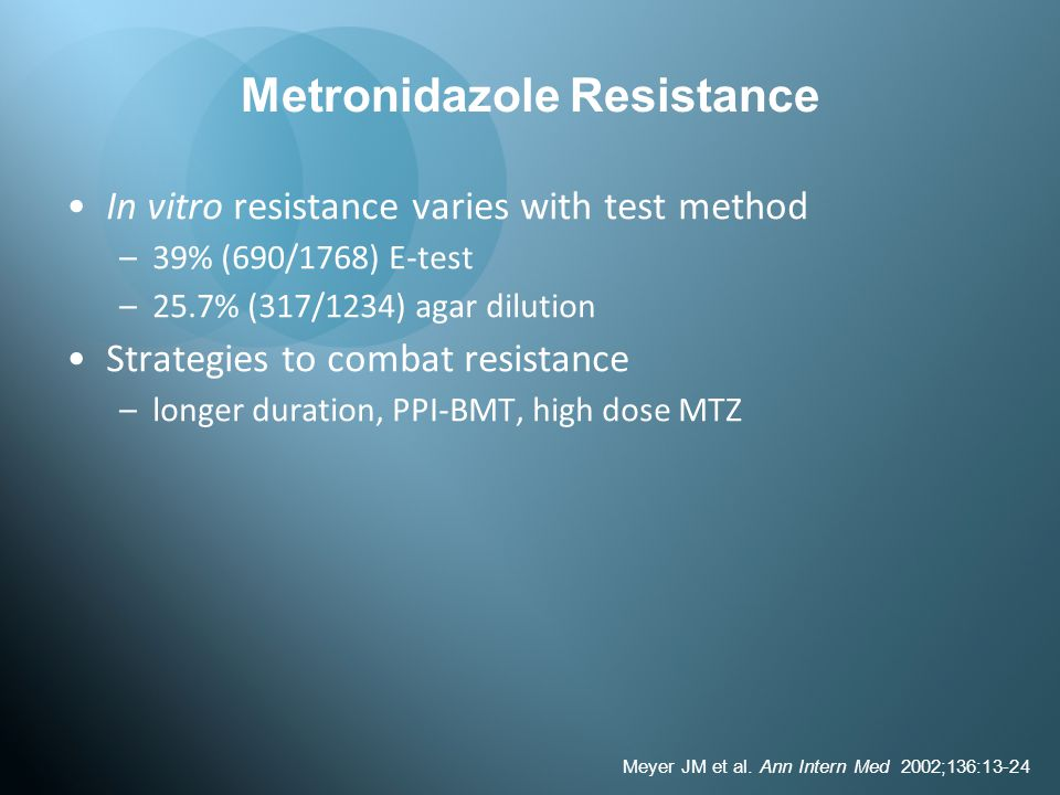 Metronidazole Resistance