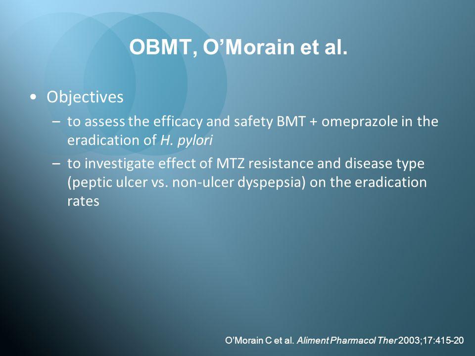 OBMT, O'Morain et al. Objectives