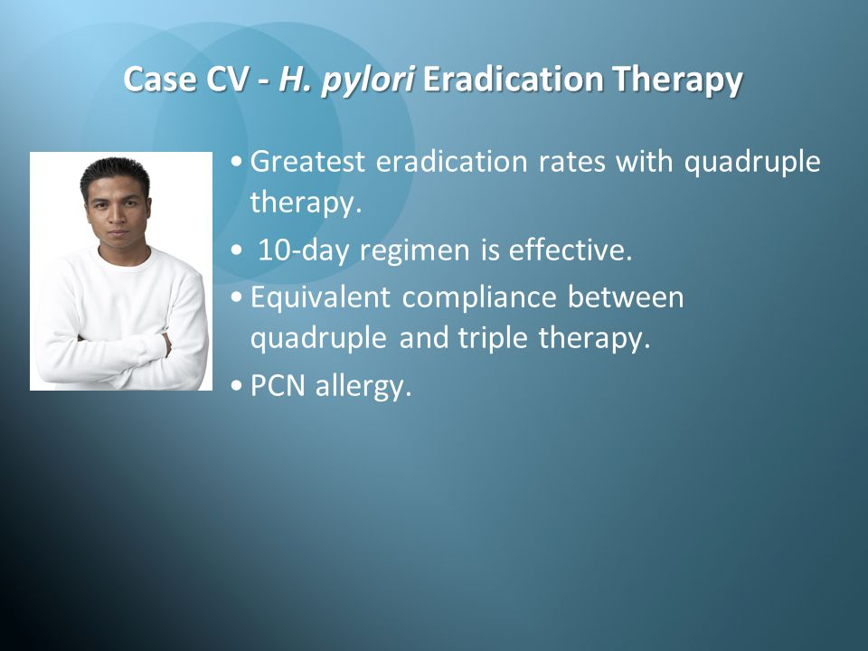 Case CV - H. pylori Eradication Therapy