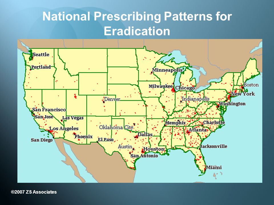 National Prescribing Patterns for Eradication