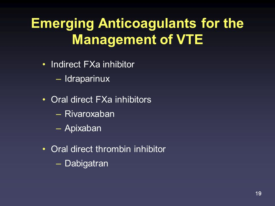 Emerging Anticoagulants for the Management of VTE