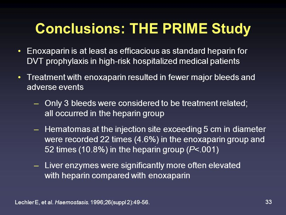 Conclusions: THE PRIME Study