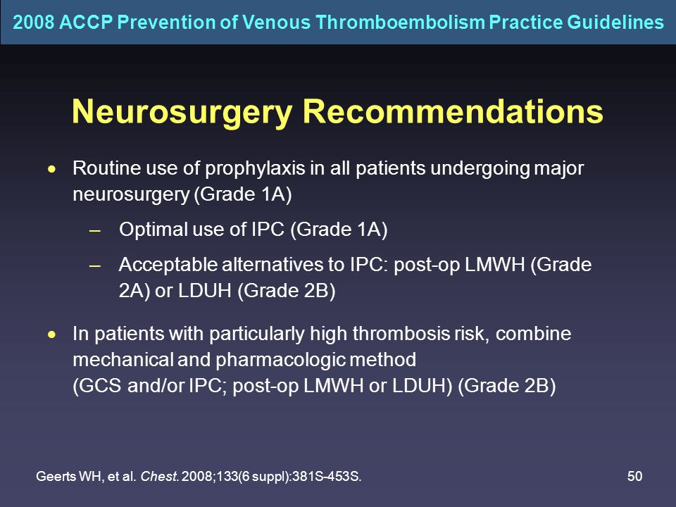 Neurosurgery Recommendations