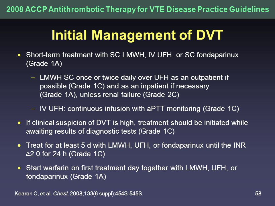 Initial Management of DVT