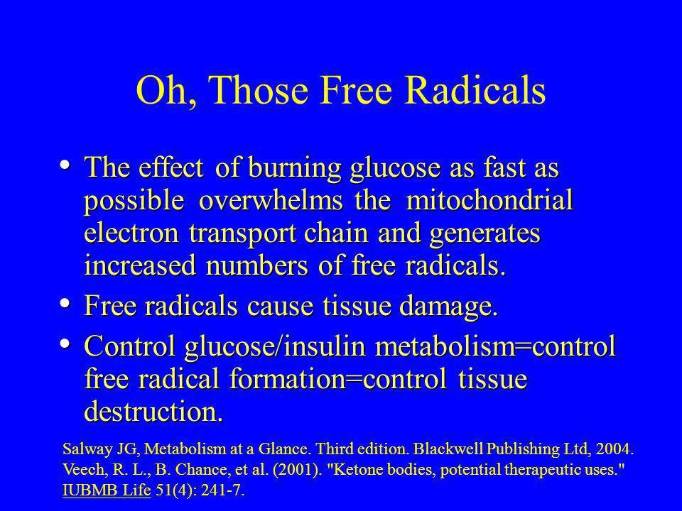 Oh, Those Free Radicals