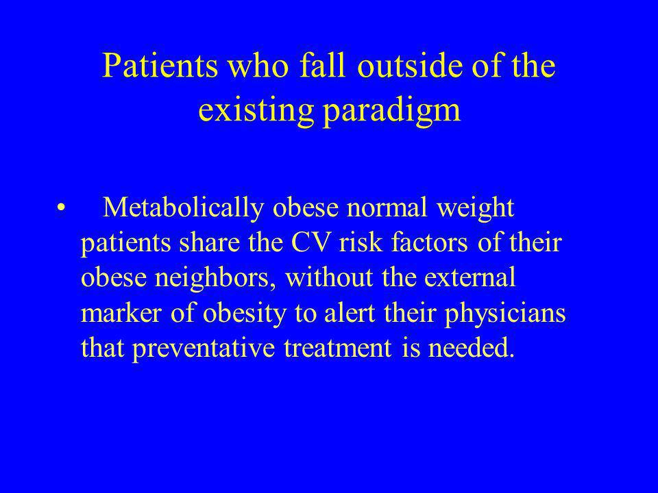 Patients who fall outside of the existing paradigm