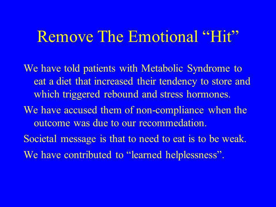 Remove The Emotional Hit