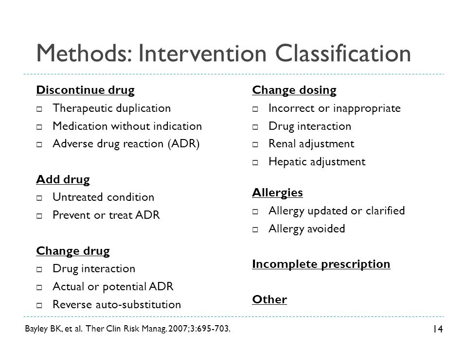 Methods: Intervention Classification