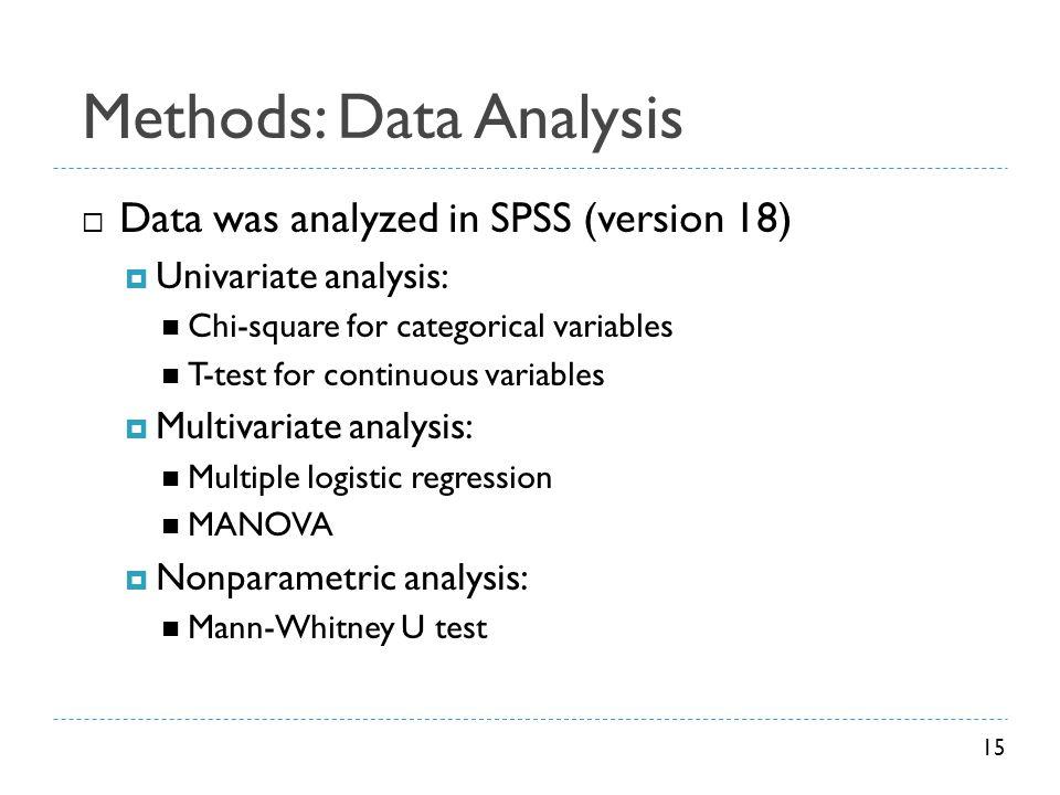 Methods: Data Analysis