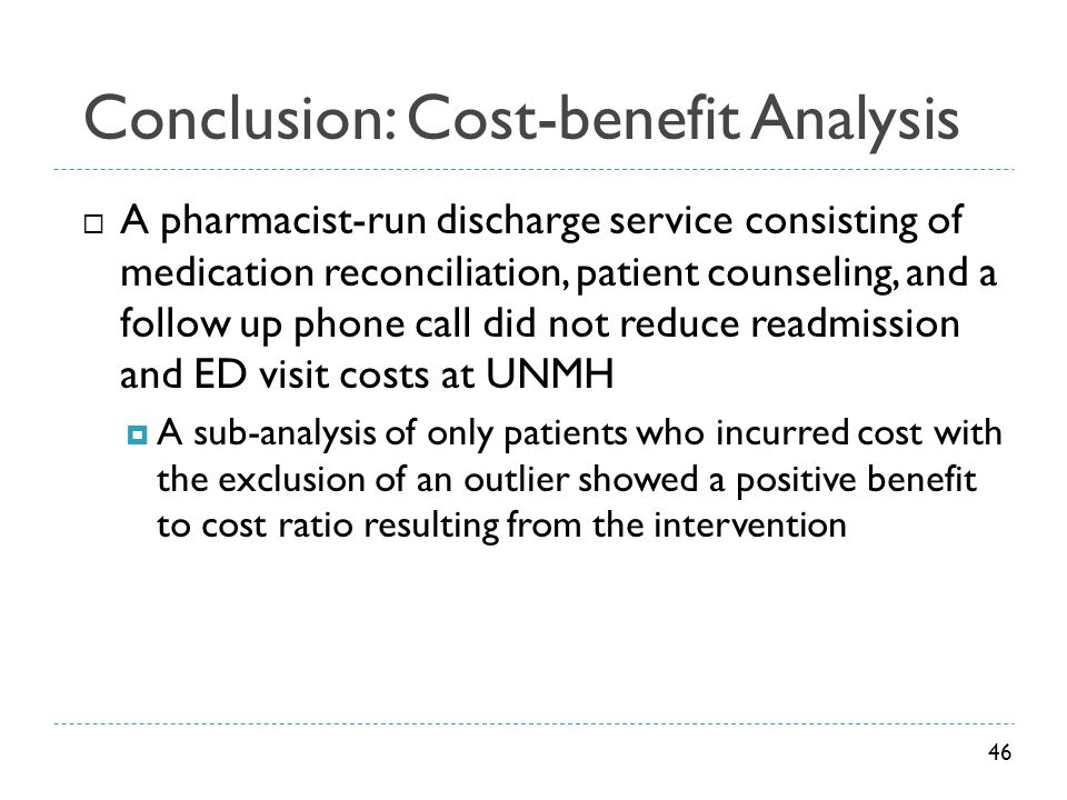 Conclusion: Cost-benefit Analysis